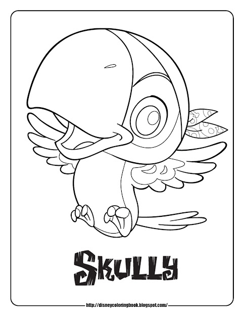 Jake And The Never Land Pirates Coloring Pages Coloring Sheets Skully