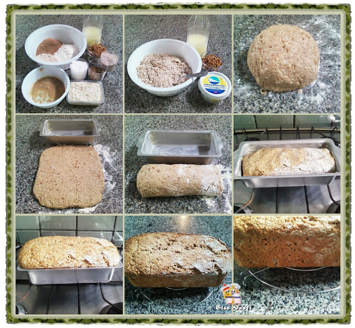 Pão integral com grãos de trigo germinados 3
