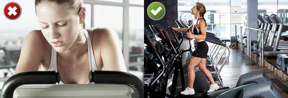 Bad Form on Cardio Machines and Better Technique on Cardio Machines