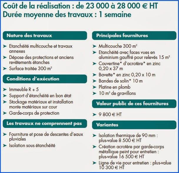 Ks services 13 prix r fection de l tanch it d une terrasse inaccessible - Prix d une refection de toiture ...
