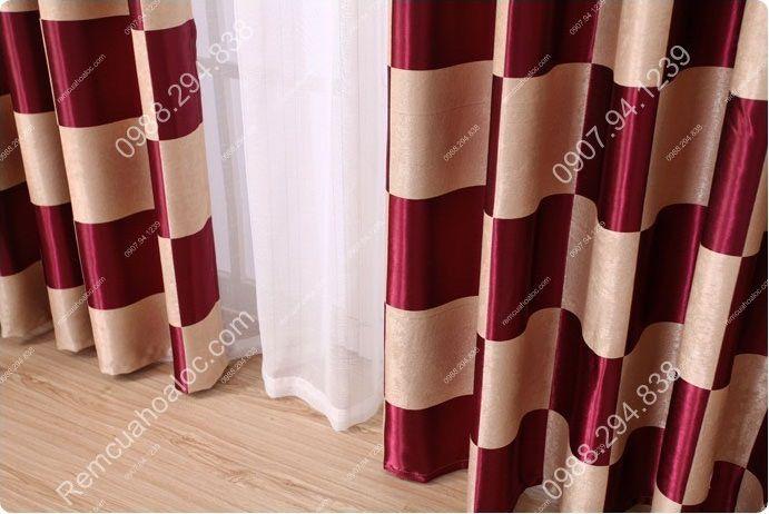 Rèm cửa cao cấp tại hà nội họa tiết bàn cờ vua 10
