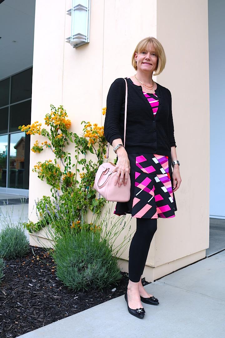 Black  Pink Dress 1 2
