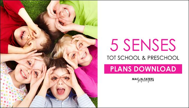 5 Senses Tot & Preschool Plans
