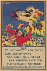 Carnaval de Nice affiche 1929
