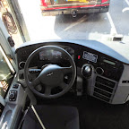Het dashboard van de Vanhool TX van Krol Reizen bus 50