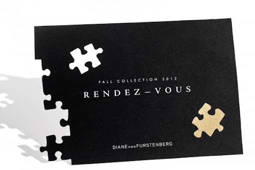 I like the puzzle concept behind this DVF invitation.