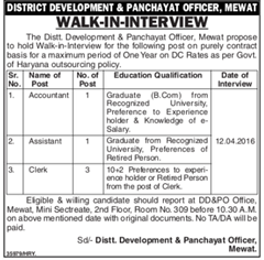 Mewat Recruitment 2016 indgovtjobs