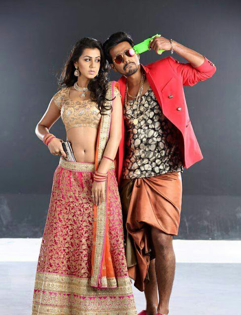 Nikki galrani naval showing pic with actor Vishnu in velainu vanthutta nan velaikkaraen