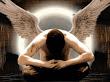 Boy Sitting Angel