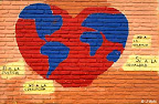 Un hommage à la paix, sur le mur d'une école au Paraguay