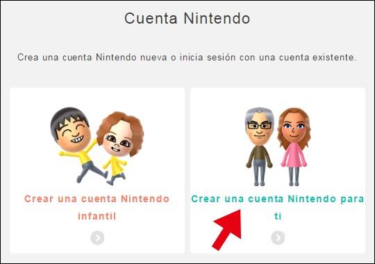 Abrir mi cuenta en Nintendo - 735