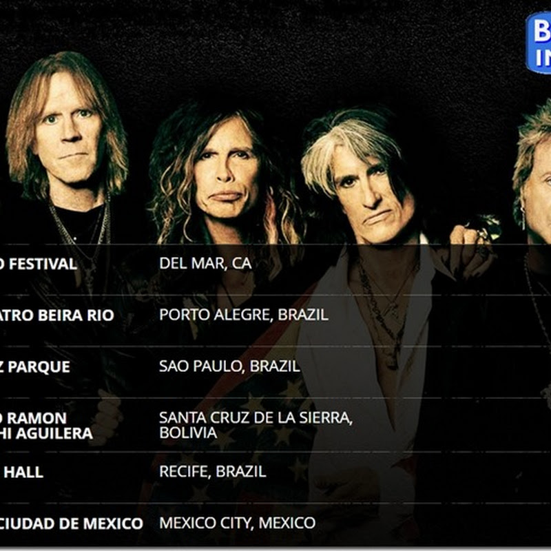 Aerosmith en Bolivia: 18 de octubre de 2016