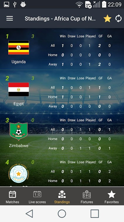 Live Scores Free Live Score Football Results Android