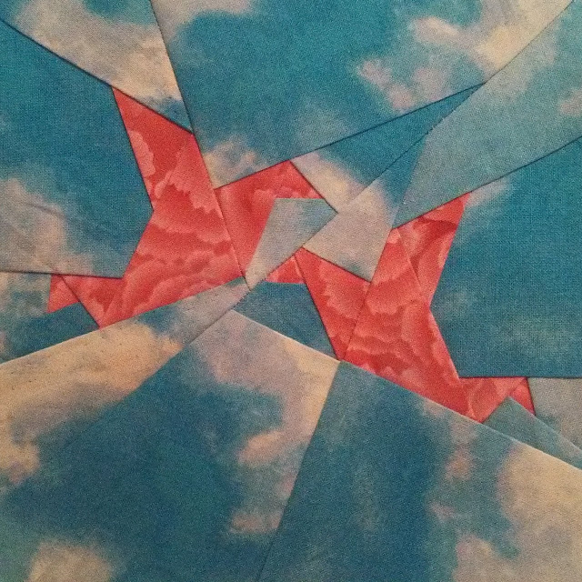 paper crane quilt block