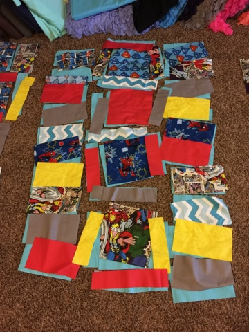 Superhero Rag Quilt Set For Baby Crib Includes Crib Size