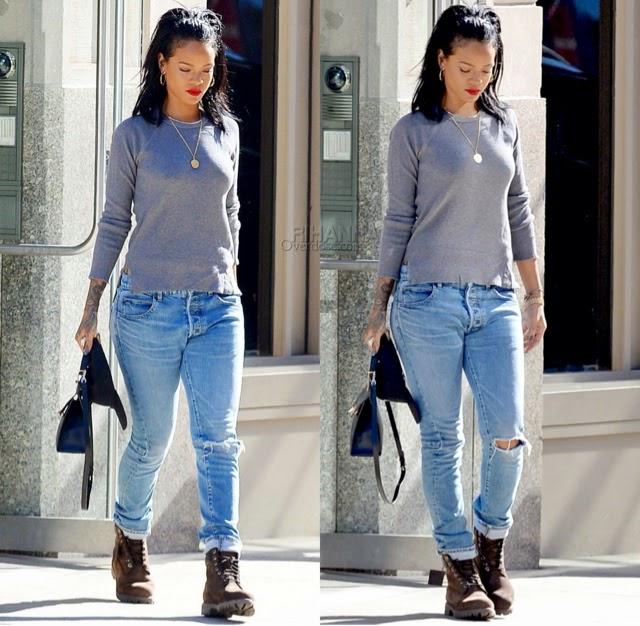 Rihanna in Gogo Philip, Balmain Homme