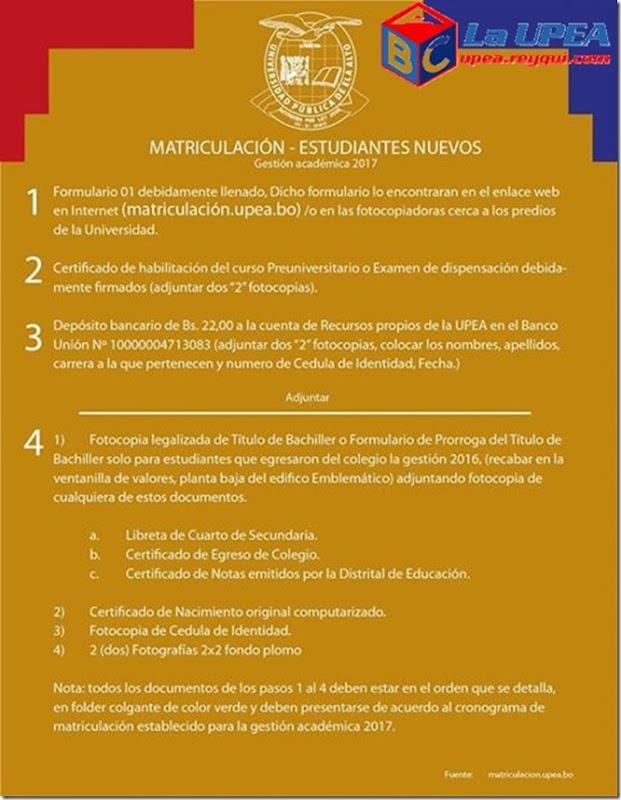 matriculacion-estudiantes-nuevos-la-upea-2017-reyqui
