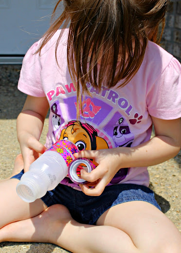 Let kids wrap the bottles with washi tape