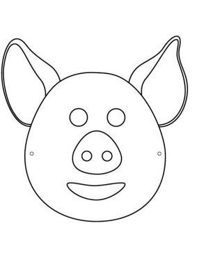 cerdo 8mascara de animales  para colorar (52)_thumb