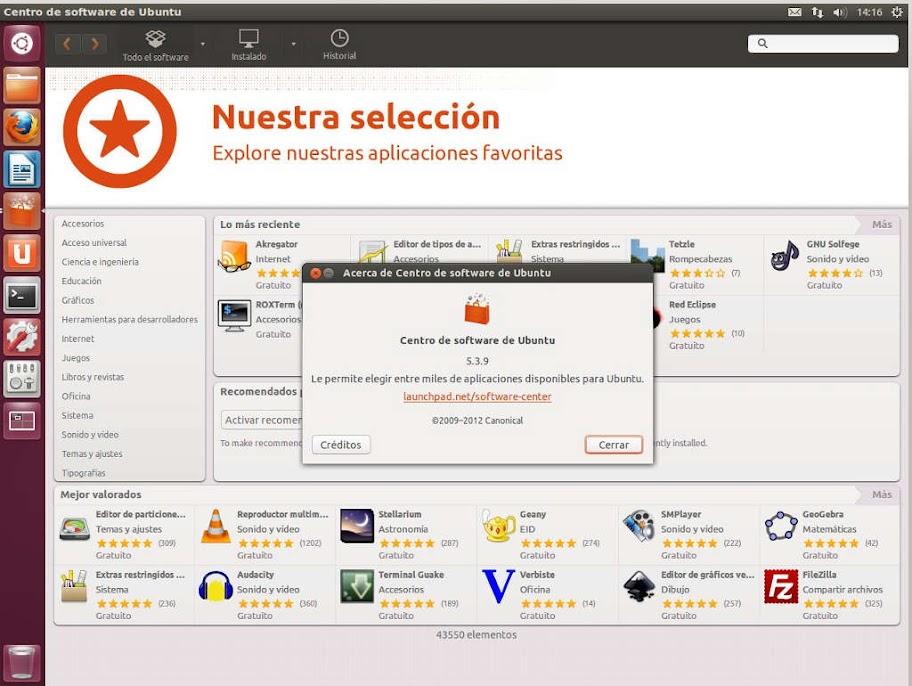 Ubuntu%252012.10%2520software%2520center%2520temas Ubuntu Software Center 5.3.9 con plugins de búsqueda Dash y lens