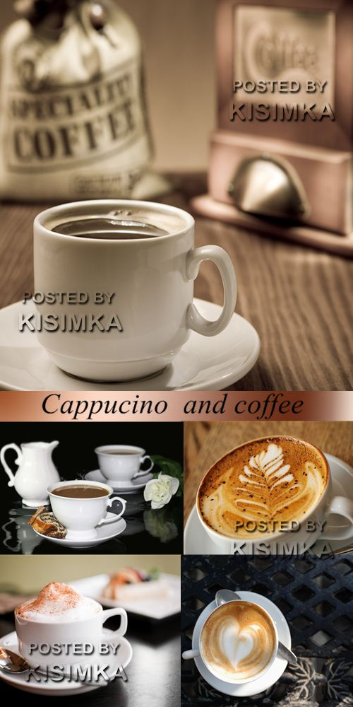 Stock Photo: Cappucino and coffee