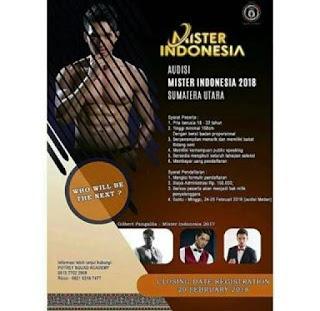 cara mendaftar audisi mister indonesia 2018 di medan sumetera utara