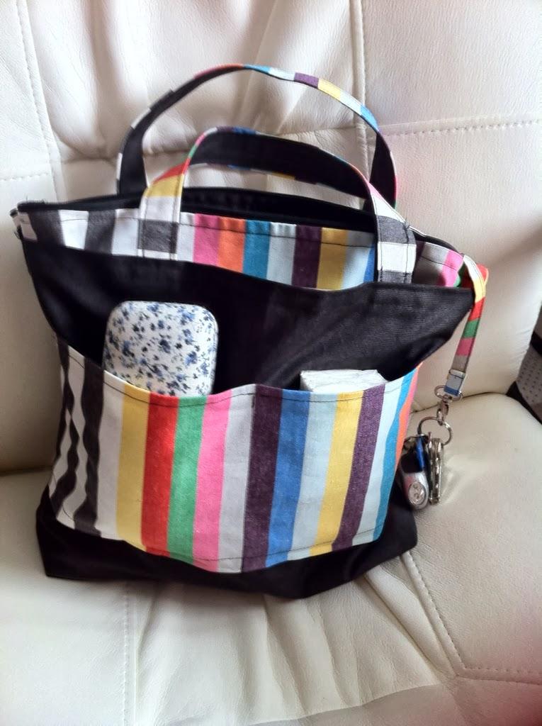 Aprendiendo a coser: organizador de bolso | El desván de Miss Thirty