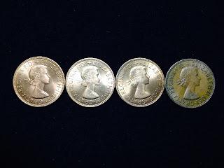 ONE PENNY ELIZABETH2 NEW&OLD/イギリスの1ペニー エリザベス2世女王 新しいのと古いの