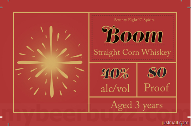 Seventy Eight Spirits Boom Straight Corn Whiskey
