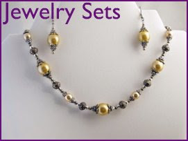 "Elegance - Pearls, silver plated beads and spacers - Cleansing & soothing  16""- $30 + Earrings - $12"