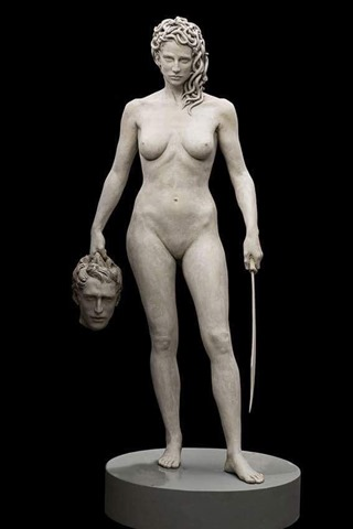 Medusa with Perseus' head (2008), by Luciano Garbarti