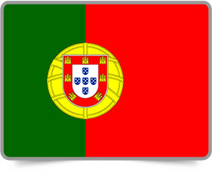 Portuguese framed flag icons with box shadow
