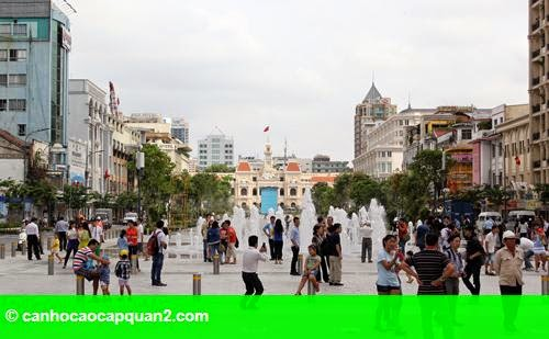 Hình 1: Mặt bằng cho thuê trên phố đi bộ Nguyễn Huệ rục rịch tăng giá