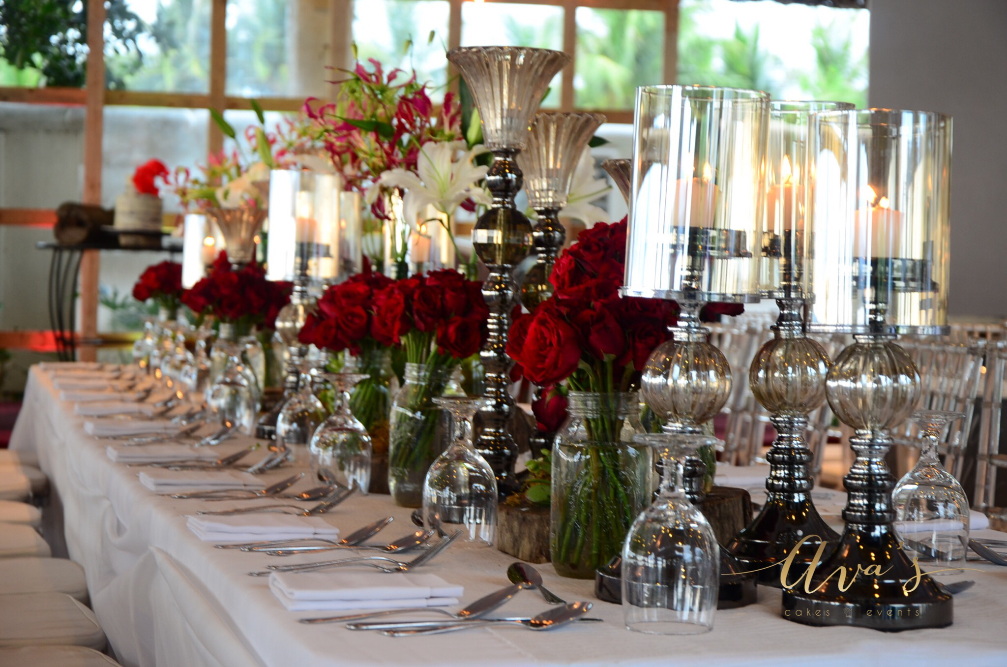 And the tablescapes for their entourage and