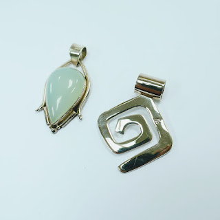 Sterling Silver Pendant Pair