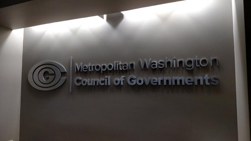 MWCOG logo - brushed aluminum letters