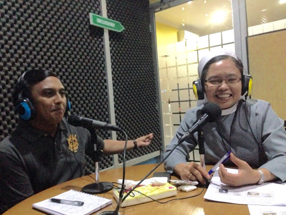 Sister Hubertha and karel are being broadcast on FM Unisi