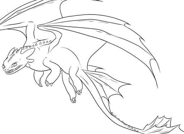 Realistic Dragons Colouring Pages