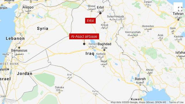 Iran Lesatkan Puluhan Rudal ke Pangkalan AS di Irak