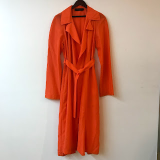 Calvin Klein Collection Orange Trench