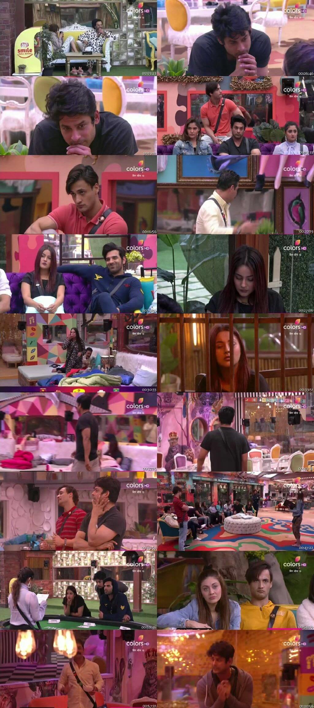 Screenshots Of Hindi Show Bigg Boss 13 29th November 2019 Episode 60 300MB 480P HD