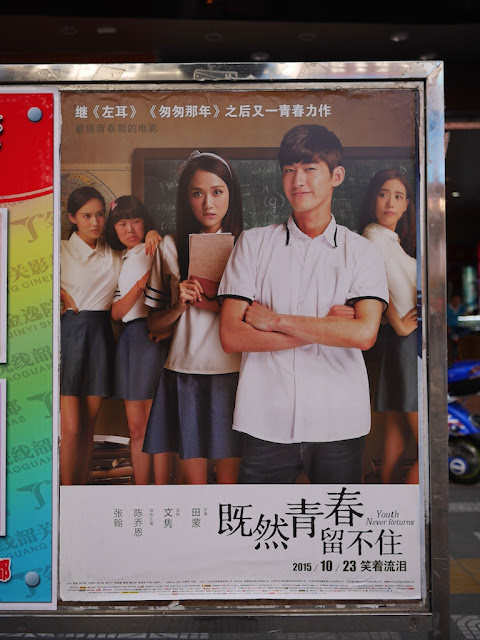 movie poster for Youth Never Returns (既然青春留不住) in Shaoguan, China