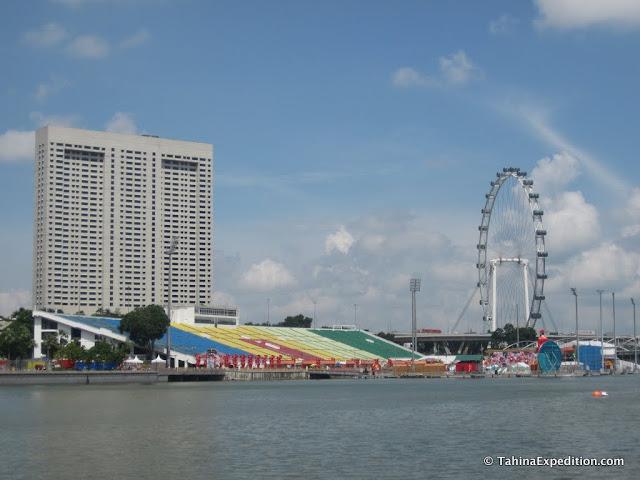 Marina Bay Floating Stadium and ferris wheel