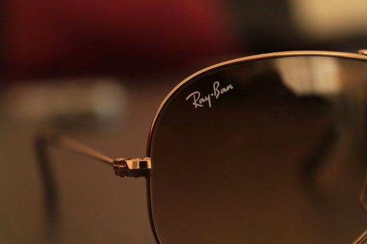 Ray-Ban Logo on Glasses