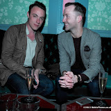WWW.ENTSIMAGES.COM -  Eddie Wright and Peter Lloyd  at    Fundraising Soiree at 17 Harrington Rd London May 9th 2013 raising money for Women's Aid                                                   Photo Mobis Photos/OIC 0203 174 1069