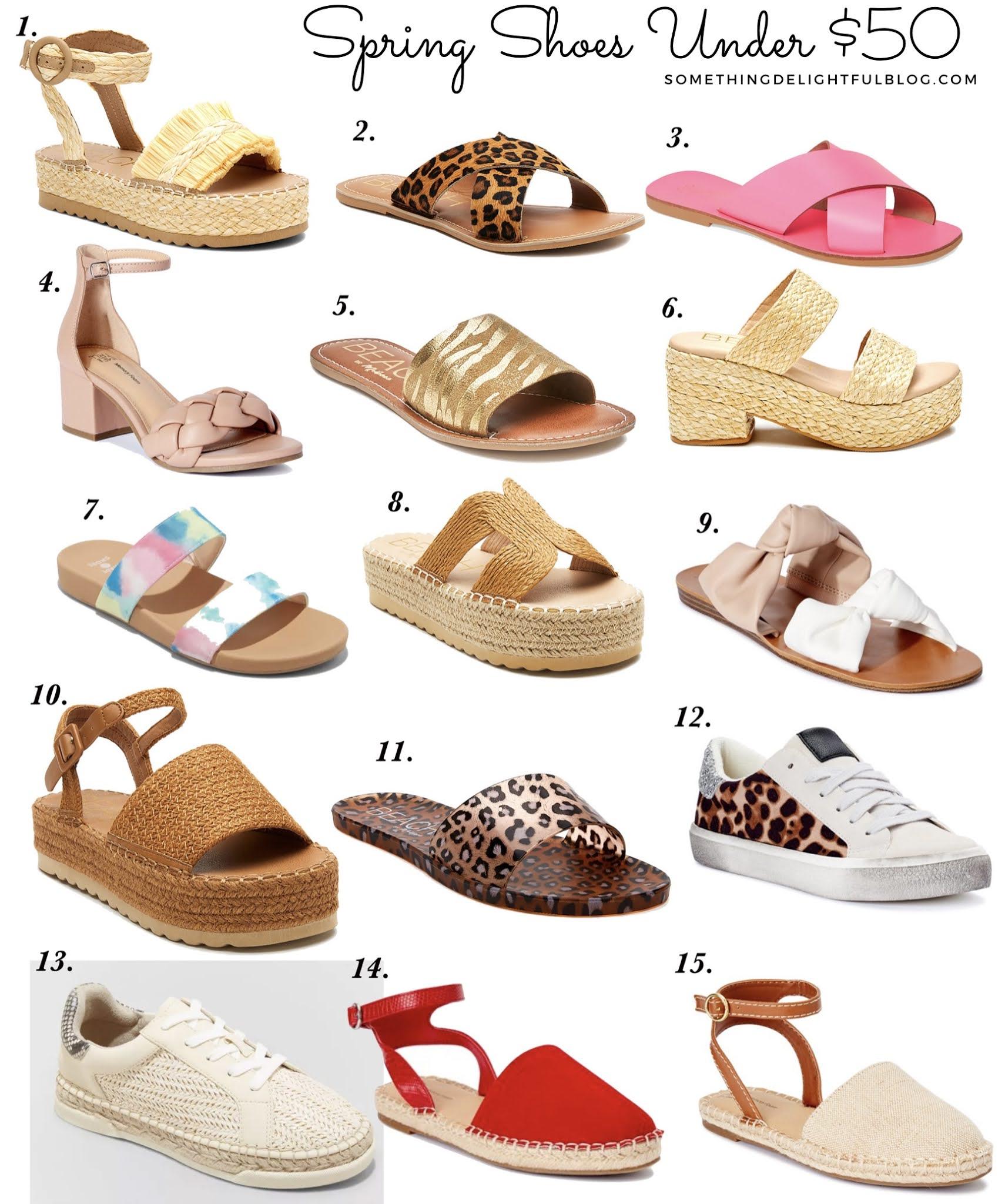 Adorable Spring 21 Shoes Under $50 - Something Delightful Blog #targetstyle #nordstrom #walmartfashion #affordablestyle