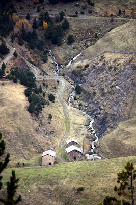 Valley with houses in Andorra
