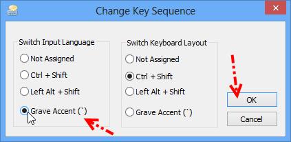 กำหนดคีย์สลับภาษาใน Windows 8 W8kb05
