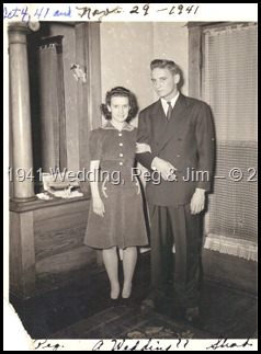 Peg Weber & Jim Stull  -- Wedding 1941