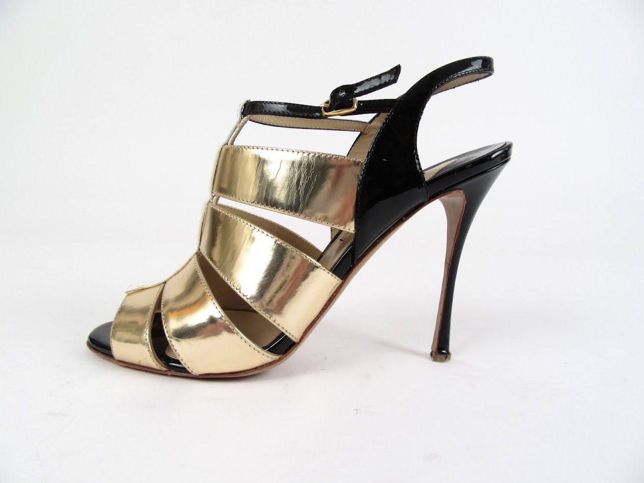 Nicholas Kirkwood Gold Panelled Pumps